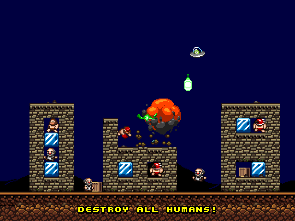 Screenshot of Alien Offense